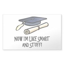 Smart Funny Grad Rectangle Sticker 10 pk)