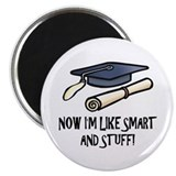 Graduation 2.25&quot; Round Magnet