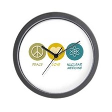 Peace Love Nuclear Medicine Wall Clock