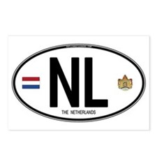 Netherlands Intl Oval Postcards (Package of 8)