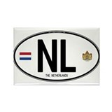 Netherlands Intl Oval Rectangle Magnet (10 pack)