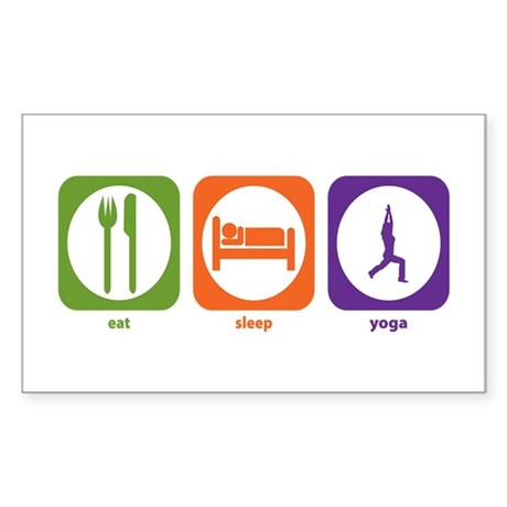 Eat Sleep Yoga Rectangle Sticker