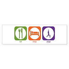 Eat Sleep Yoga Bumper Bumper Sticker