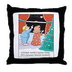 GPS Santa Sleigh Throw Pillow
