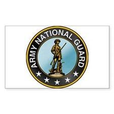 Army National Guard Rectangle Decal
