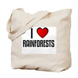 I LOVE RAINFORESTS Tote Bag