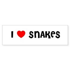 I LOVE SNAKES Bumper Bumper Sticker