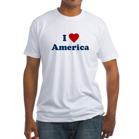 I Love [Heart] America Fitted T-Shirt