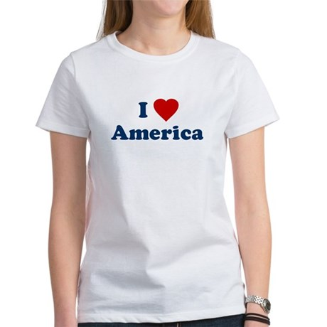 I Love [Heart] America Womens T-Shirt