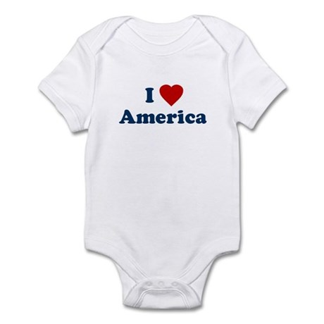 I Love [Heart] America Infant Creeper