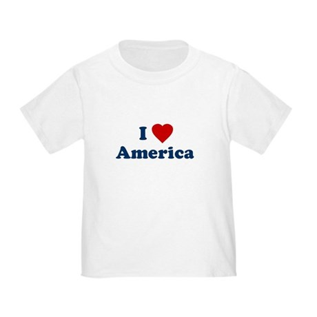 I Love [Heart] America Toddler T-Shirt