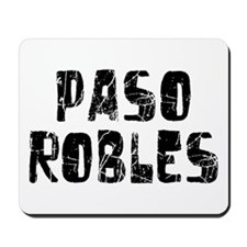 Paso Robles Faded (Black) Mousepad