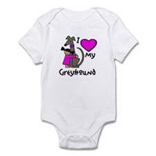 Asian Girl, Black Hound Infant Bodysuit