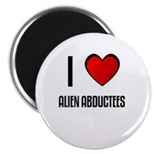 "I LOVE ALIEN ABDUCTEES 2.25"" Magnet (10 pack)"