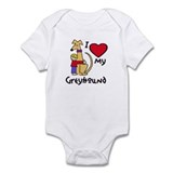 Blonde Boy, Fawn Hound Infant Bodysuit
