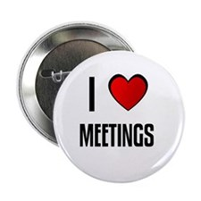 "I LOVE MEETINGS 2.25"" Button (100 pack)"