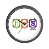 Eat Sleep Systems Engineering Wall Clock