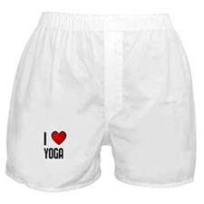 I LOVE YOGA Boxer Shorts