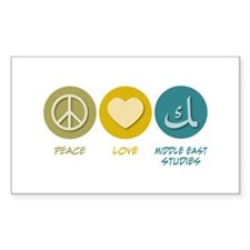 Peace Love Middle Eastern Studies Decal
