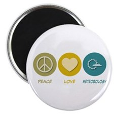 "Peace Love Meteorology 2.25"" Magnet (100 pack"