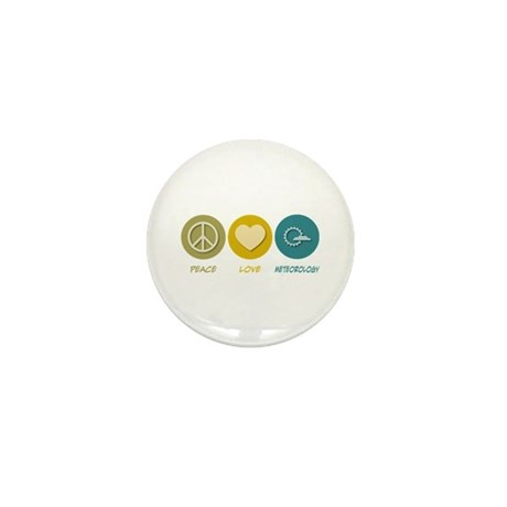 Peace Love Meteorology Mini Button (100 pack)