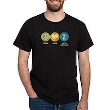 Peace Love Metal Working T-Shirt
