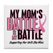 My Battle 1 (Mom BC) Tile Coaster