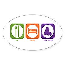 Eat Sleep Rollerblade Oval Decal