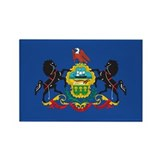 PENNSYLVANIA-FLAG Rectangle Magnet (100 pack)
