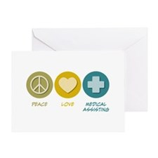 Peace Love Medical Assisting Greeting Card