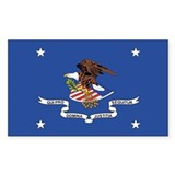 ATTORNEY-GENERAL-FLAG Rectangle Decal