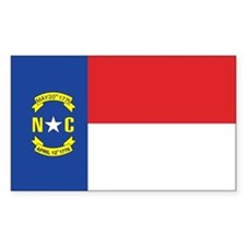 NORTH-CAROLINA-FLAG Rectangle Decal