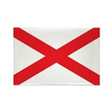 ALABAMA-FLAG Rectangle Magnet