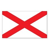 ALABAMA-FLAG Rectangle Decal