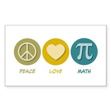 Peace Love Math Rectangle Sticker 50 pk)