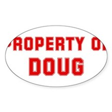 Property of DOUG Oval Decal