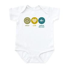 Peace Love Marine Biology Infant Bodysuit