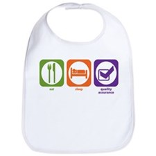Eat Sleep Quality Assurance Bib