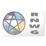 RNWG Official Logo Rectangle Sticker 50 pk)