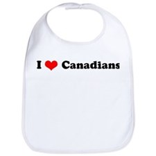 I Love Canadians Bib