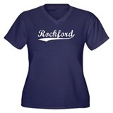 Vintage Rockford (Silver) Women's Plus Size V-Neck