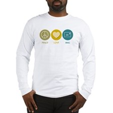 Peace Love Mail Long Sleeve T-Shirt