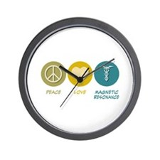 Peace Love Magnetic Resonance Wall Clock