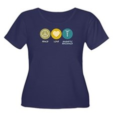 Peace Love Magnetic Resonance Women's Plus Size Sc