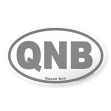 Queen Bee QNB Euro Oval Decal