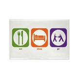 Eat Sleep PR Rectangle Magnet (10 pack)
