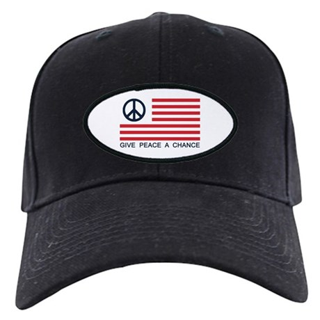 Give Peace A Chance Black Baseball Cap