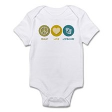 Peace Love Literature Infant Bodysuit