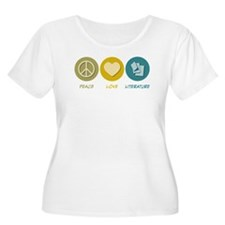 Peace Love Literature T-Shirt