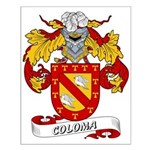 Coloma Family Crest Small Poster